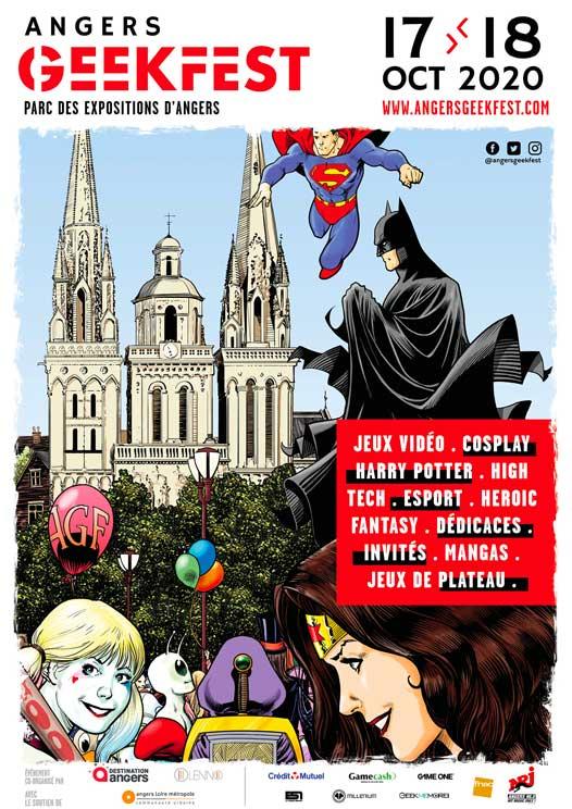 Affiche du salon Angers Geekfest 2020